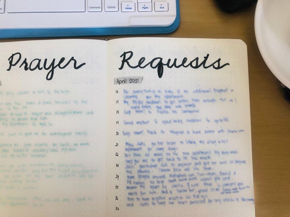 Bullet Journal Prayer request
